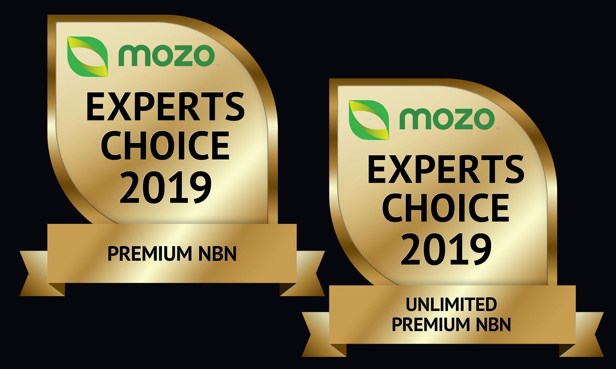 Mozo Experts Choice 2019 Award