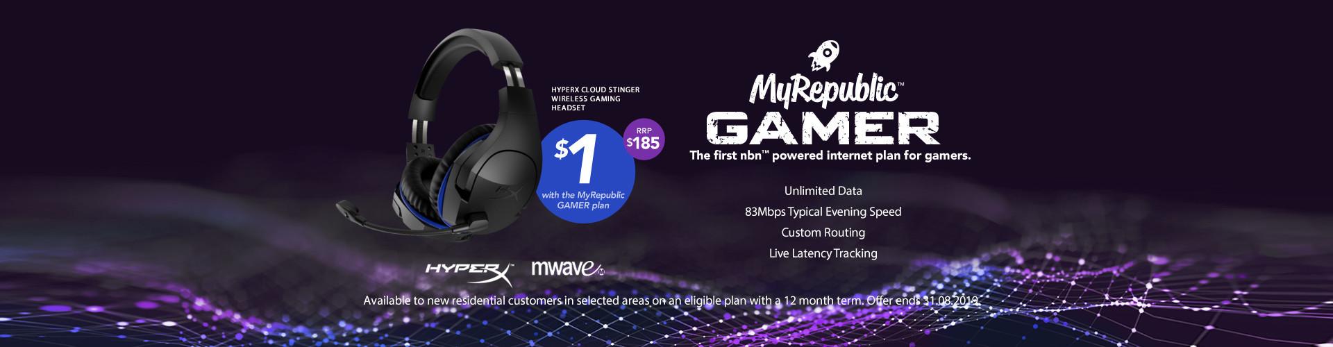 MyRepublic Gamer NBN Plan HyperX Bundle Medium